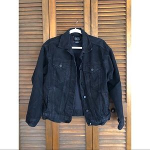 Black Denim Jacket - Urban Outfitters